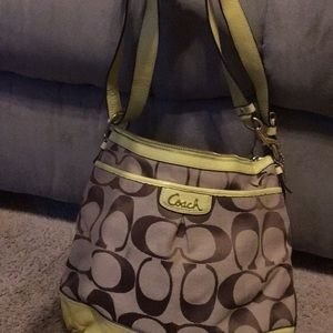 Coach bag ! brown and green !